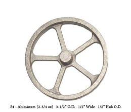 Unmachined Aluminium Flywheel  FWC-S4.3 1/2 inch Dia x 1/2 W X 1/2 Hub Dia